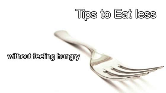 Tips to eat less