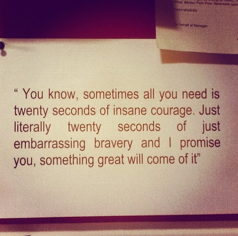 quote, courage