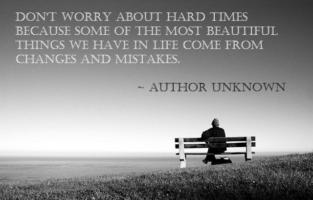 worry about hard times