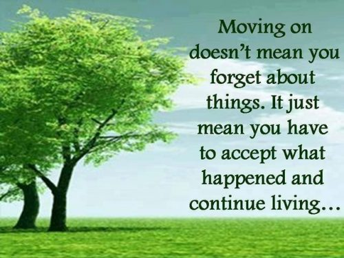 moving on means