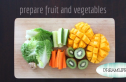 prepare fruit and vegetables