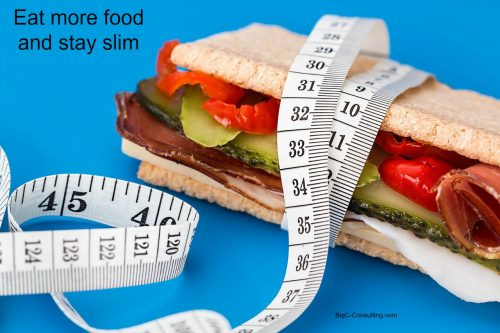 Eat more food and stay slim